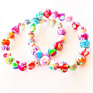 Handmade Polymer Clay Bracelet (adult size)
