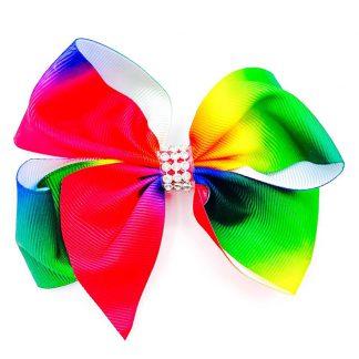Rainbow Hairbow Diamontes