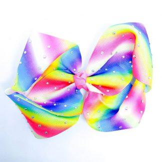 Rainbow diamonte twisted Hairbows