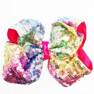 Shiny Sequins Twisted Hairbow