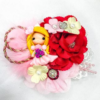 Fancy hair Boutique bows handmade Clays Sleeping Beauty
