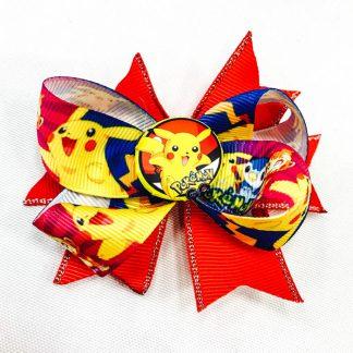 Fancy hair Boutique bows Pokemon Pikachu