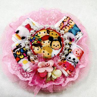 Fancy hair Boutique bows Tsum Tsum Pink