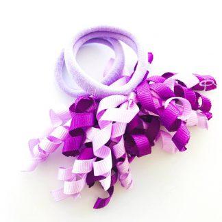 Hair Ties Short Korker Purple (pair)
