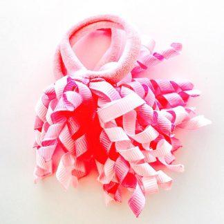 Hair Ties Short Korker Pretty Pink (pair)