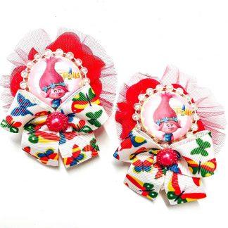 Pink Troll Bow pair