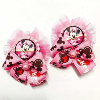 Minnie mouse Bow Pair Pink