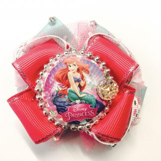 Fancy Hair Boutique bow Little mermaid Ariel dark Pink / Red