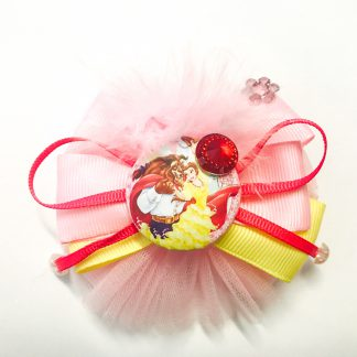 Fancy Hair accessories tulle stytle Beauty and the Beast Pink