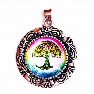 Pendant Glass Cabochon 20mm glass diametre Tree of Life Ficus-0
